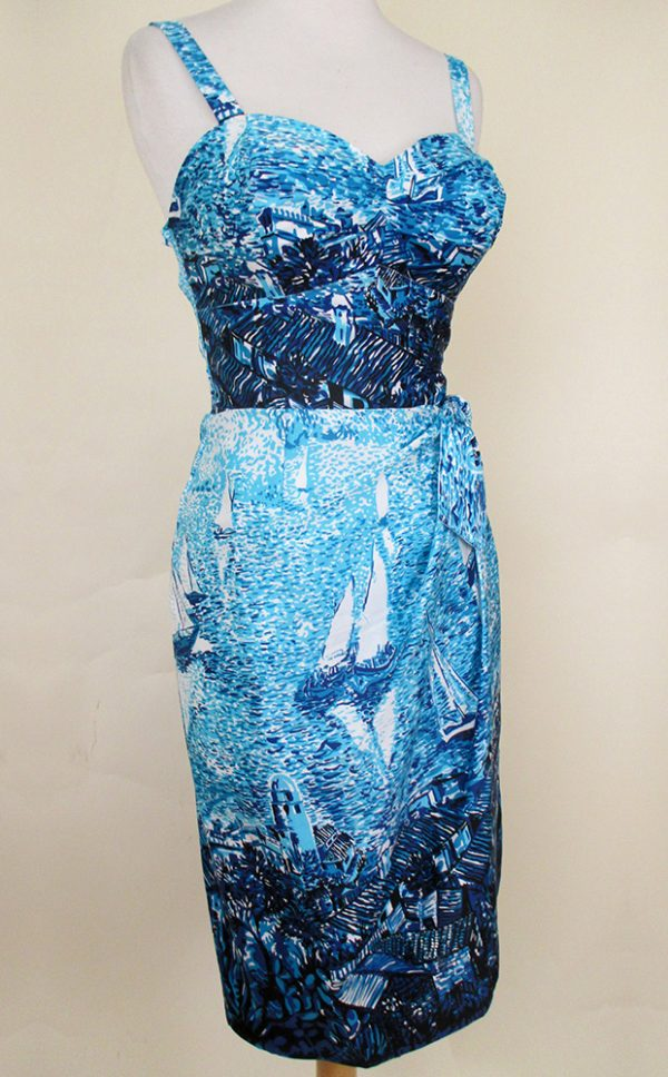 Dreamy Blue Lagoon Sarong Dress
